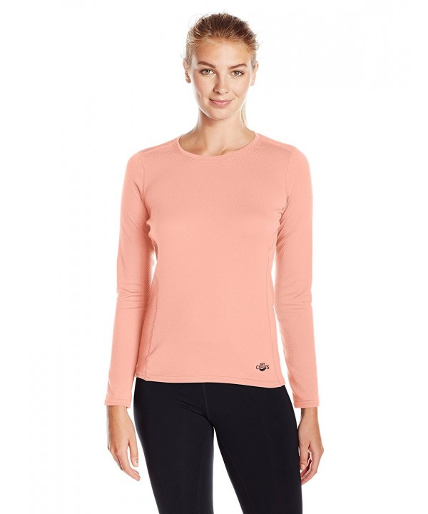 Hot Chillys Womens Geo Thermal Peach