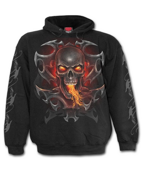 Spiral Mens Dragon Hoody Black
