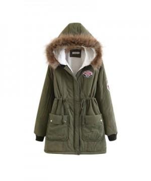Liran Womens Winter Cotton Padded Armygreen