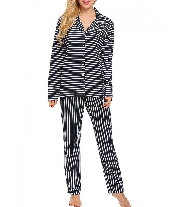 Vansop Striped Comfort Sleepwear X Small