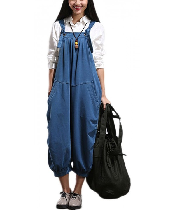 Soojun Womens Classic Overalls Cropped