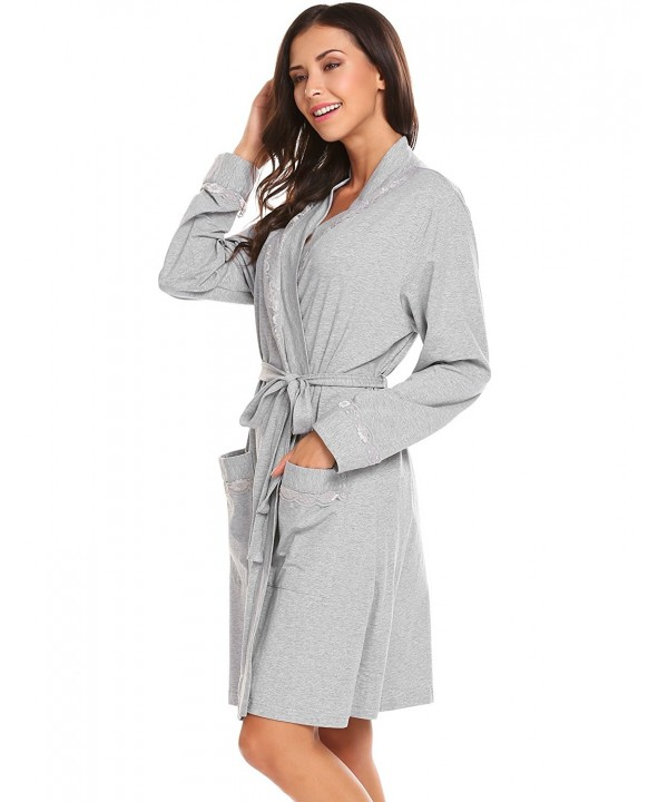 Lamore Sleepwear Robe Lace Bridesmaid Bathrobes
