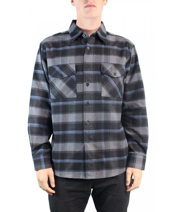 YAGO Flannel Sleeve Plaid Button