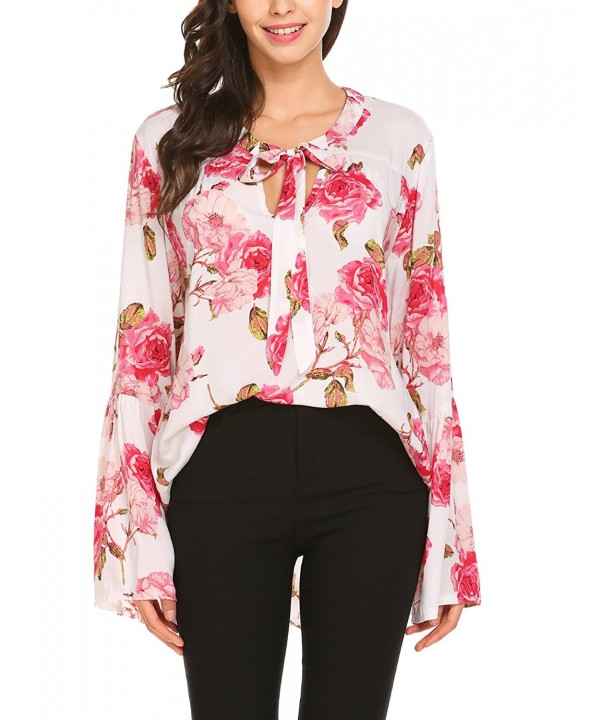 Venena Womens Casual Floral Sleeve