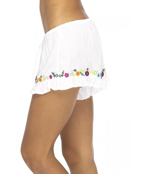 Back Bali Embroidery Shorts Elastic