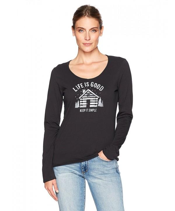 Life Womens Sleeve Simplify T Shirt