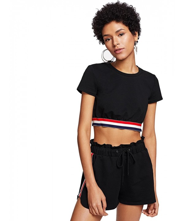 SweatyRocks Womens Elastic Shorts Outfit