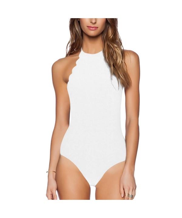 Yolev Monokini Swimsuits Crisscross Halter Neck