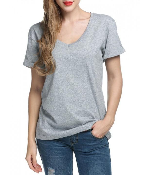 Dickin Womens Casual V Neck T Shirt