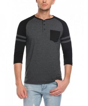 HOTOUCH Active Henley T Shirt Black