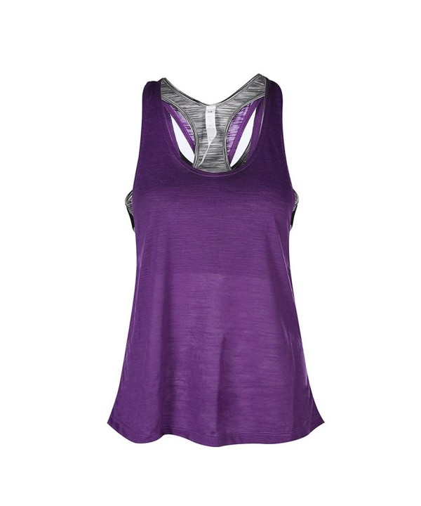 Camisole Racerback Workout Exercise Purple2