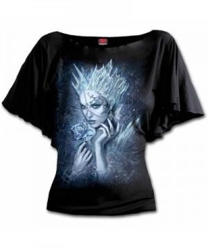 Spiral Womens Queen Sleeve Black