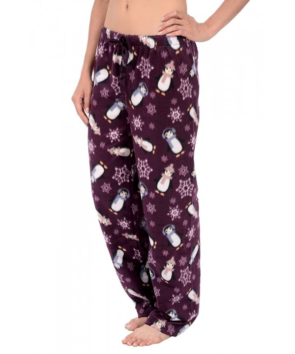 Cozy Loungewear Womens Fleece Purple