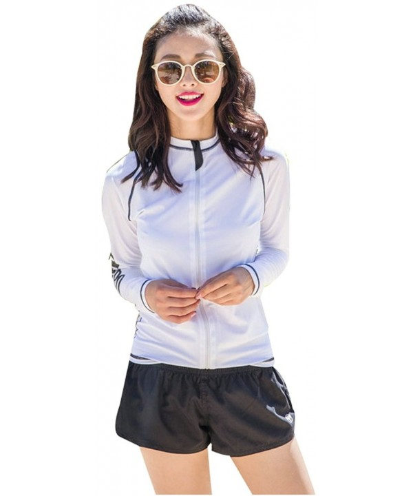 Ilishop Protection Long Sleeve Rashguard Zip Front