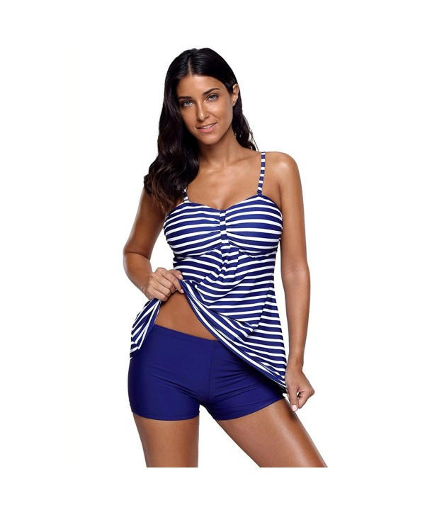 fa3e3d4994f2f Tankini Swimsuits For Women Two Pieces Swimwear Flowy Strap Top With ...