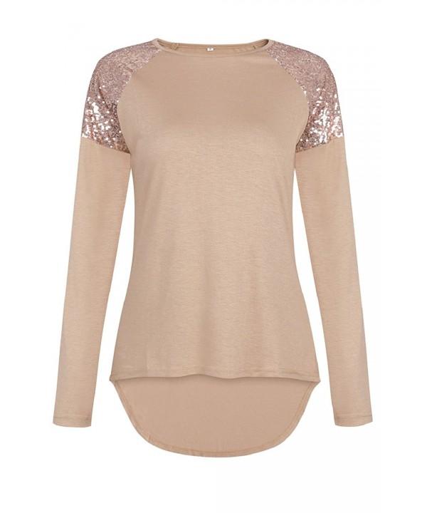 Sipaya Casual Sleeve Shirt Sequins