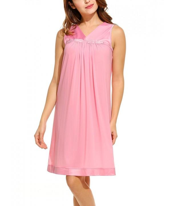MAXMODA Nightgowns Women Satin Perfumed