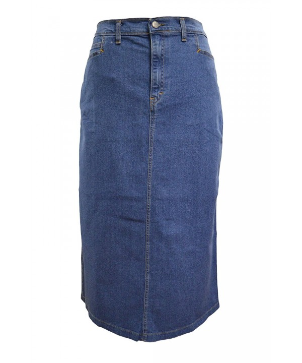 Ladies Light Stonewash Stretch Length