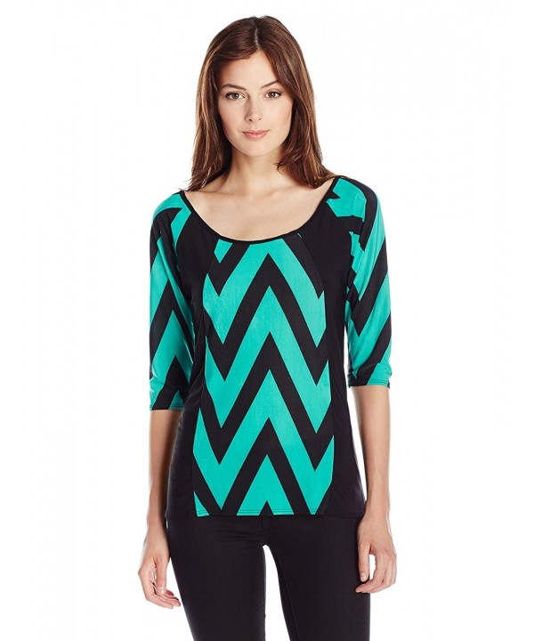 Star Vixen Slimming Colorblock Shirttail