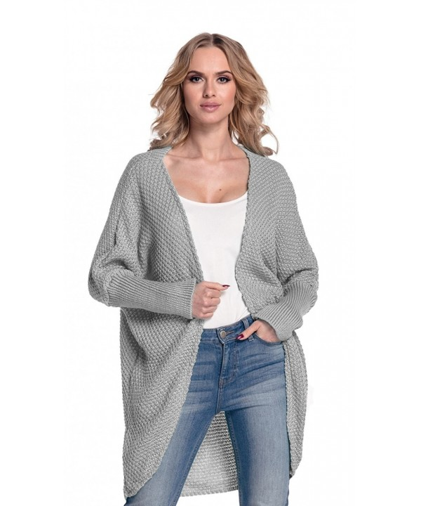 Glamour Empire Buttonless Cardigan Textured