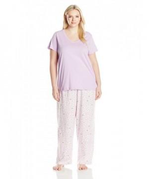 HUE Womens Plus Pajama Lavendula
