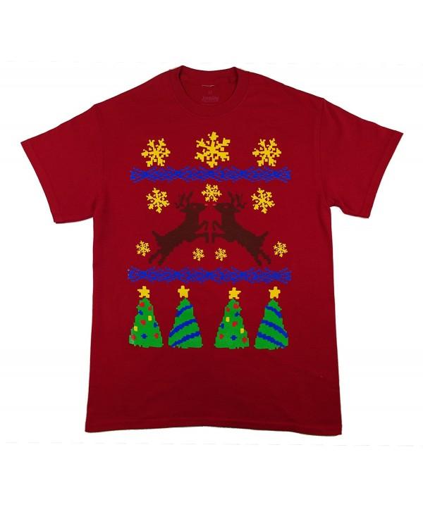 Christmas Sweater Reindeer T Shirt Cardinal