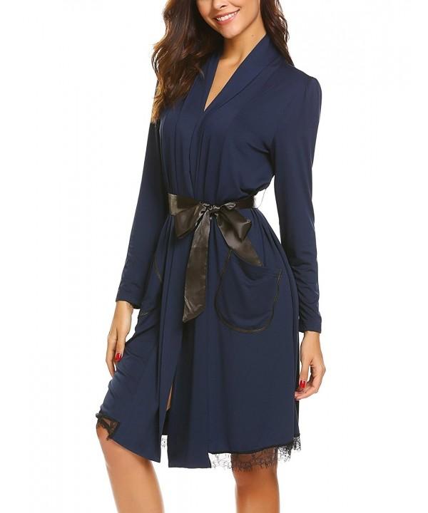 FANEO Bathrobe Sleeve Lightweight Sleepwear