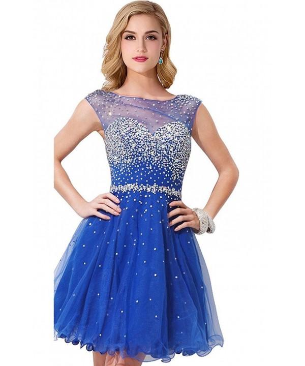 Women Crystal Short Dress Homecoming