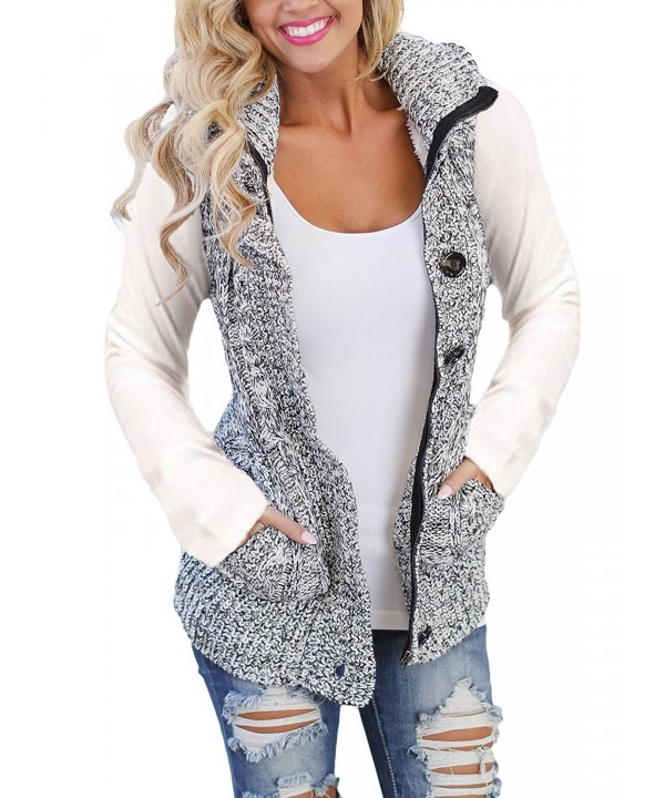 Ebbizt Womens Knitted Cardigan Sweater