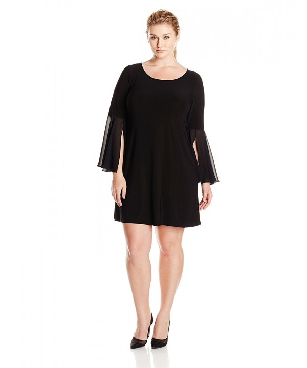 MSK Womens Plus size woven Sleeve