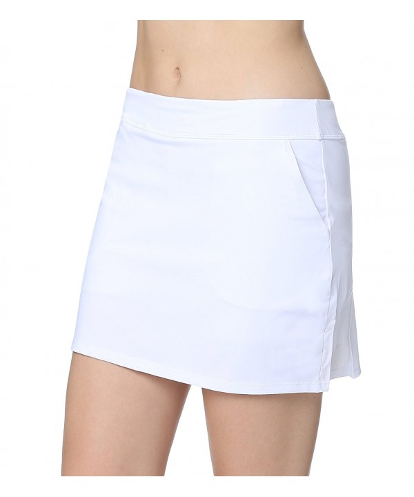 Cityoung Womens Pleated Pockets White