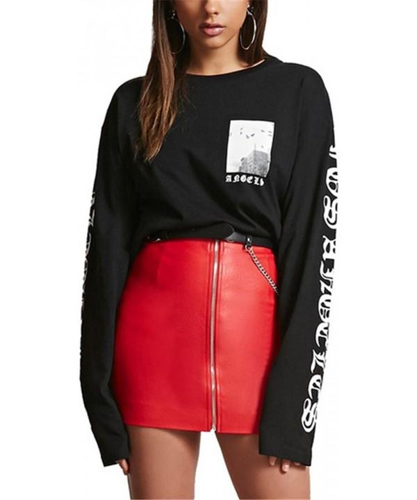 Vamvie Leather Strech Pencil Skirts