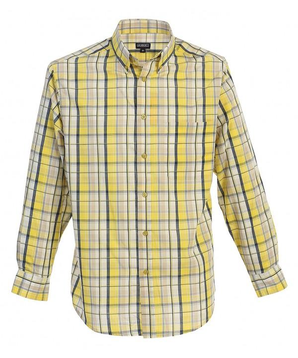 Gioberti Sleeve Plaid Yellow Medium