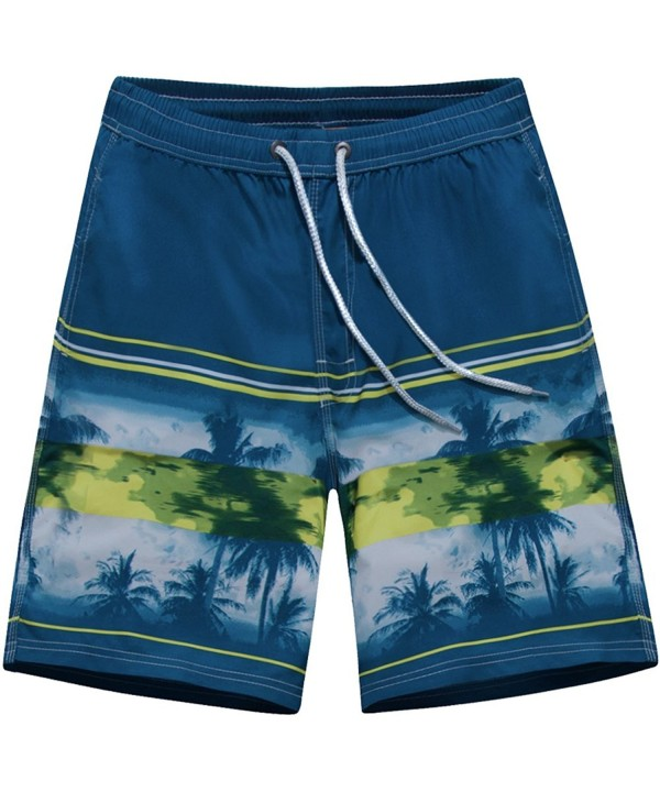 ALiberSoul Quick Drying Boardshorts Tropical Swimming