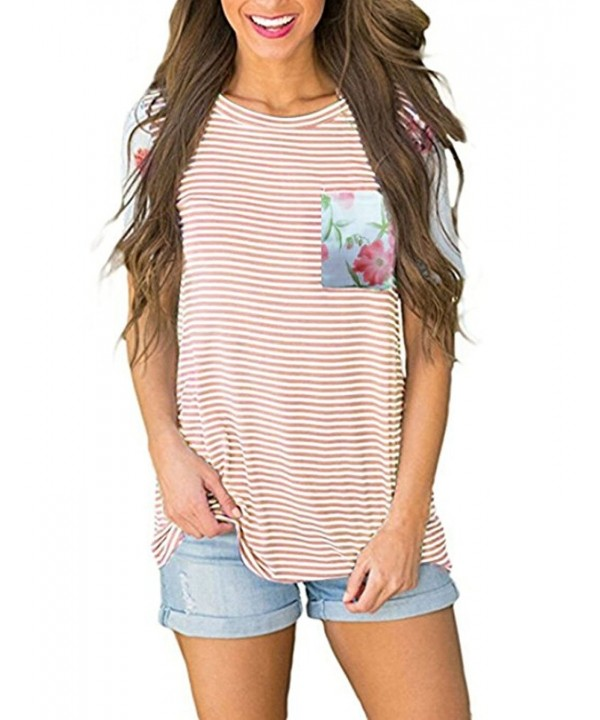 JQstar Floral Printed Striped Blouse