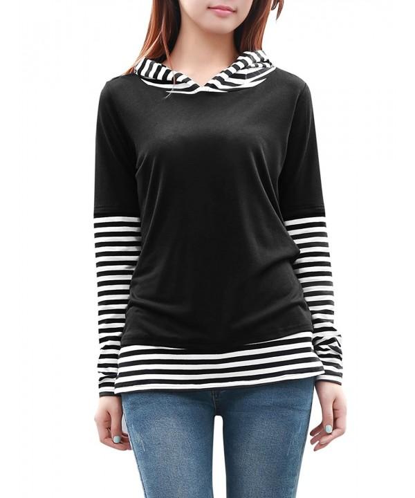Allegra Women Sleeve Stripe Hooded