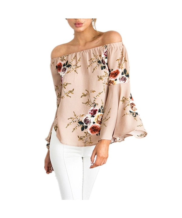 MigoKerl Womens Shoulder Floral Causal