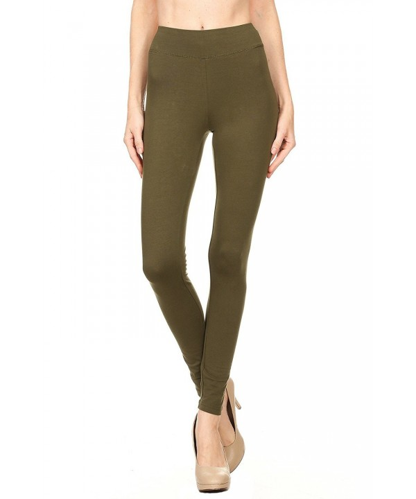 Womens Cotton Spandex Length Legging