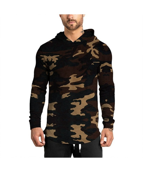 Hipster Curved Camouflage Hoodies Sweater