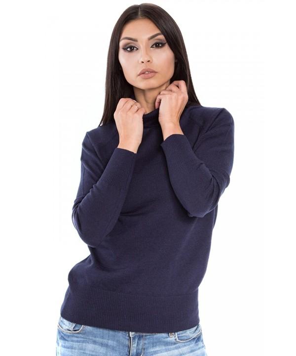 KNITTONS Italian Turtleneck Sweater Pullover