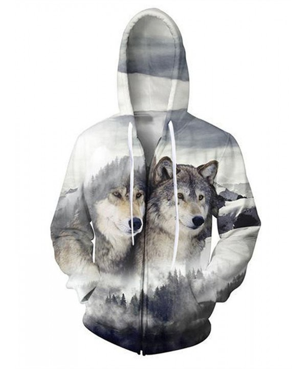 Idgreatim Personality Printed Sweatshirts Pockets