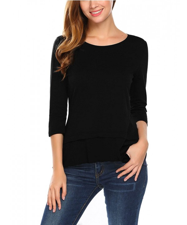 Mofavor Womens Casual Sleeve Layered