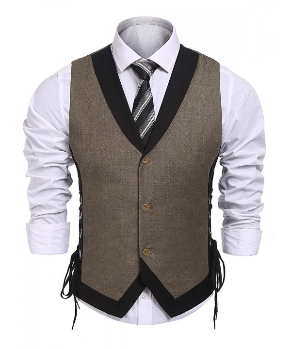Coofandy Vintage Business Button Waistcoat