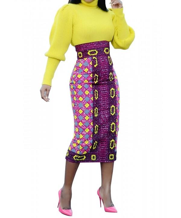JOYCHEER African Waisted Dashiki Dresses