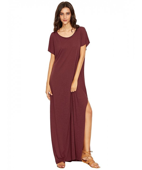 Milumia Womens Round Split Burgundy