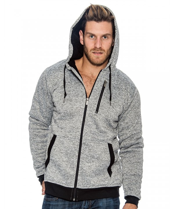 Crowns Essentials Sherpa Lined Hoodie Jacket Gray 2XL
