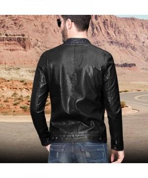 Discount Real Men's Faux Leather Coats Online Sale