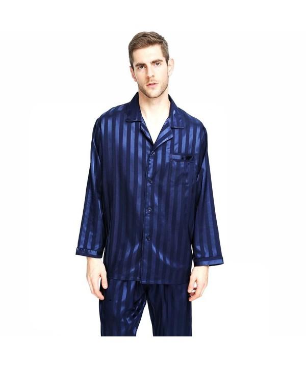 Mens Satin Pajamas Sleepwear Loungewear