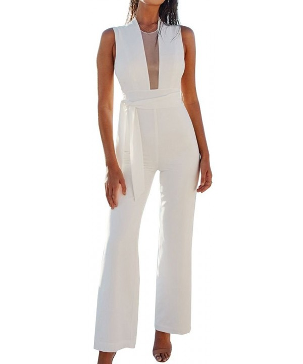 FANCYINN Zipper Jumpsuits Bodycon Romper