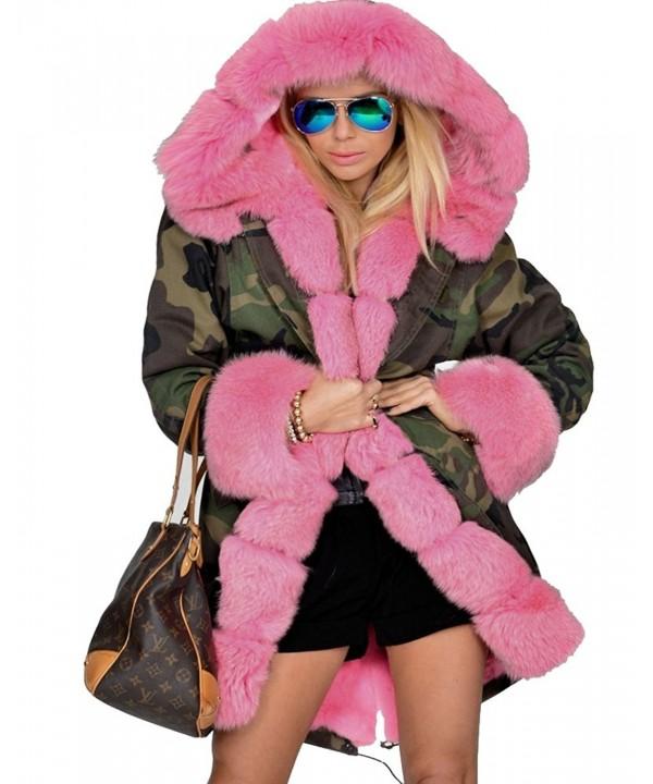 Roiii Womens Hooded Camouflage Overco
